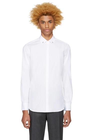 Neil Barrett - White Thunderbolt Pin Shirt