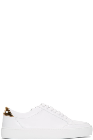 Burberry - White Leather Salmond Sneakers