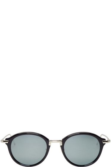 Thom Browne - Navy & Silver TB 011 Sunglasses