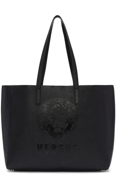 Versus - Black Logo Shopper Tote