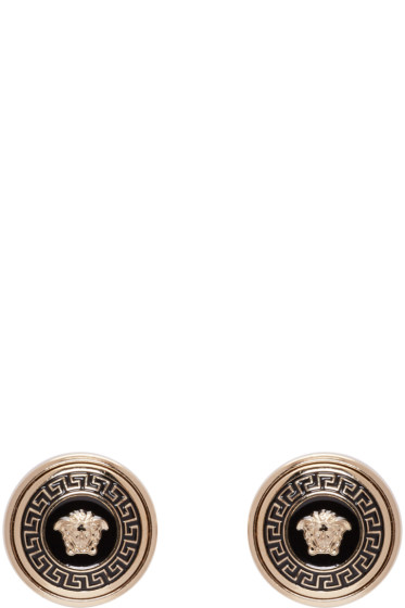 Versace - Gold Enamel Medusa Earrings