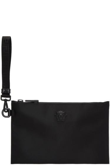Versace - Black Nylon Medusa Pouch