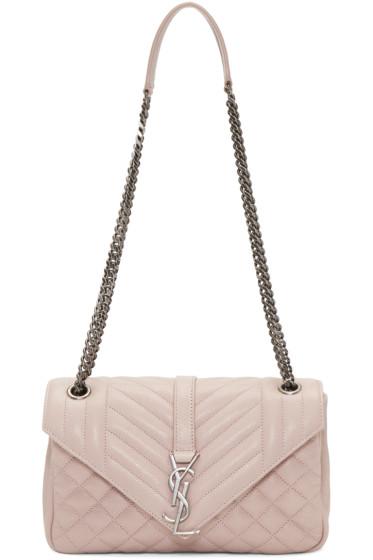 Saint Laurent - Pink Medium Monogram Slouchy Bag