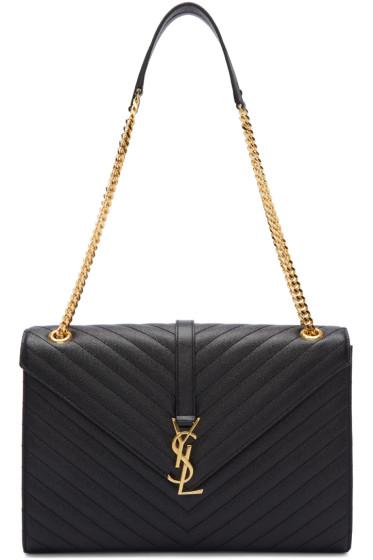 Saint Laurent - Black Large Monogram Chain Bag