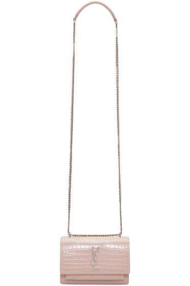 Saint Laurent - Pink Monogram Sunset Wallet Bag