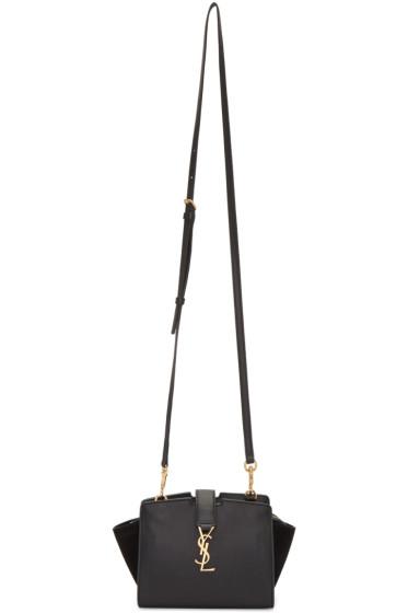 Saint Laurent - Black Leather & Suede Toy Cabas Bag