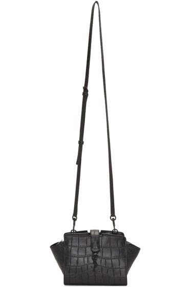 Saint Laurent - Black Croc-Embossed Toy Cabas Bag