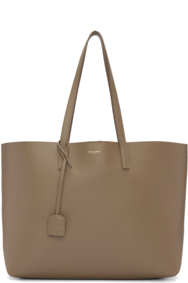 Saint Laurent - Taupe Large Shopping Tote Bag