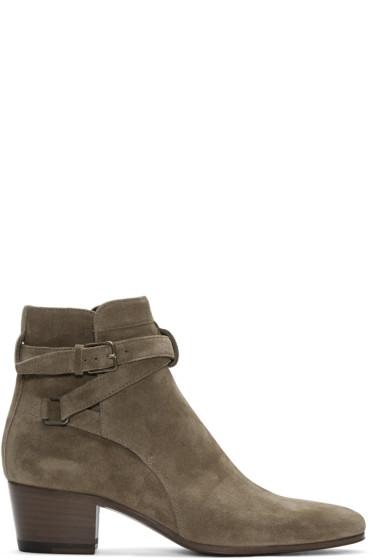 Saint Laurent - Brown Suede Blake Jodhpur Boots