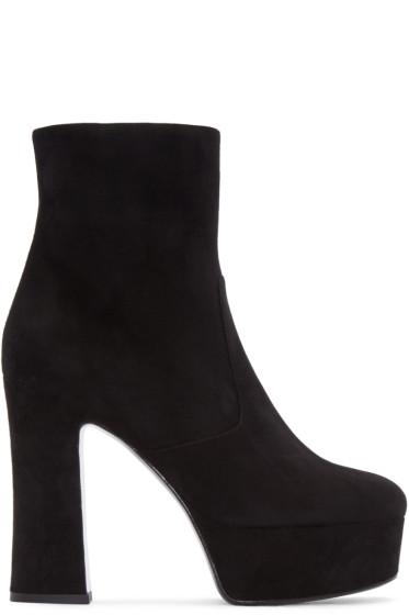 Saint Laurent - Black Suede Candy Boots