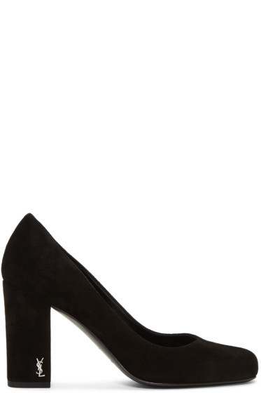 Saint Laurent - Black Suede Babies Heels