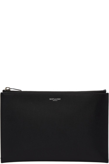 Saint Laurent - Black Mini Paris Tablet Holder
