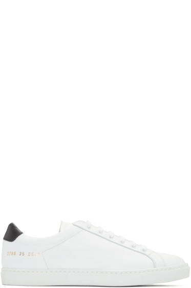 Woman by Common Projects - White & Black Original Achilles Sneakers