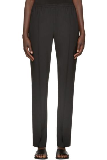 6397 - Black Wool Track Trousers
