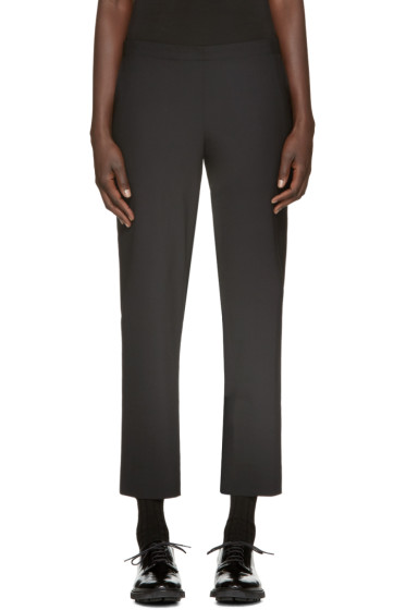 6397 - Black Pull On Trousers