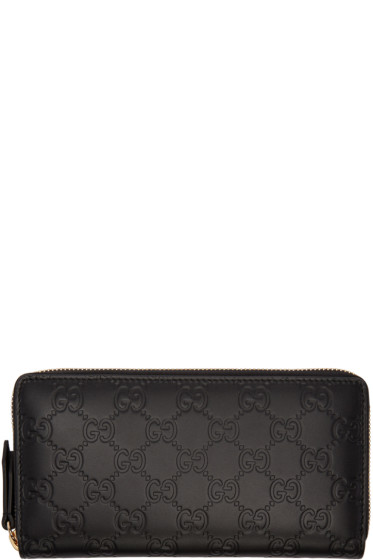 Gucci - Black Signature Logo Wallet
