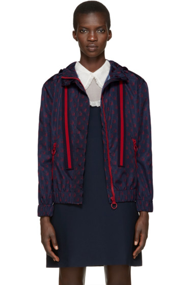 Gucci - Navy Nylon Gucci Ghost Jacket