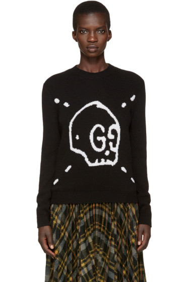 Gucci - Black Gucci Ghost Knit Sweater