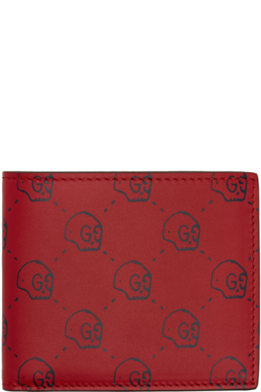 Gucci - Red Gucci Ghost Wallet