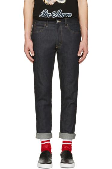 Gucci - Indigo Slim Tiger Jeans