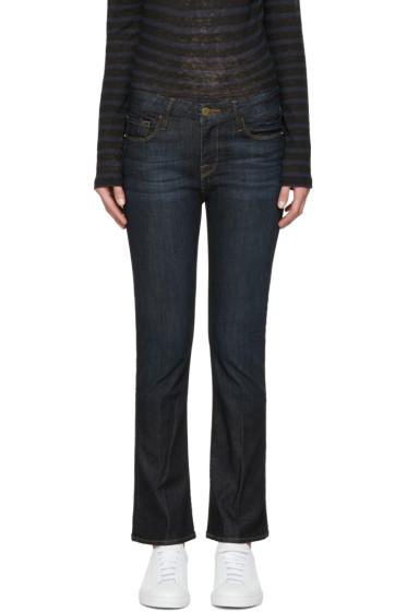 Frame Denim - Indigo Le Crop Mini Boot Jeans