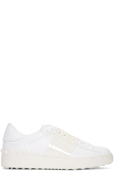 Valentino - White Open Sneakers