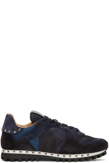 Valentino - Navy Rockstud Sneakers