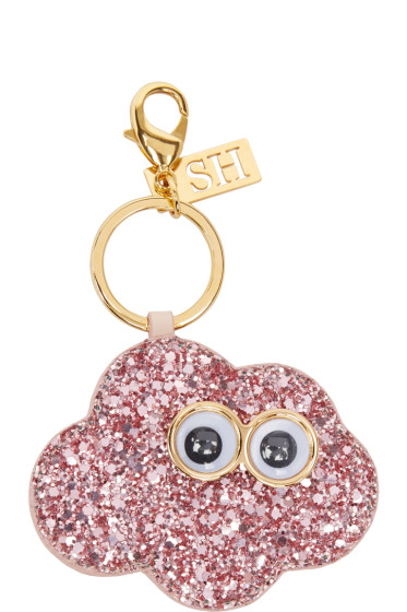 Sophie Hulme - SSENSE Exclusive Pink 'Claudia At Night' Keychain