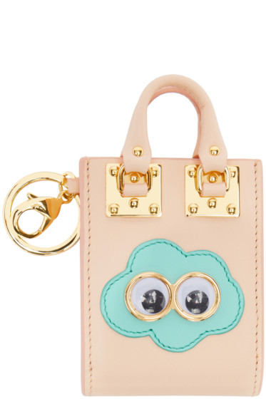 Sophie Hulme - SSENSE Exclusive Pink Cloud Albion Tote Keychain