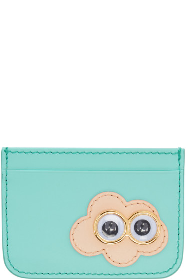 Sophie Hulme - SSENSE Exclusive Blue Cloud Rosebery Card Holder