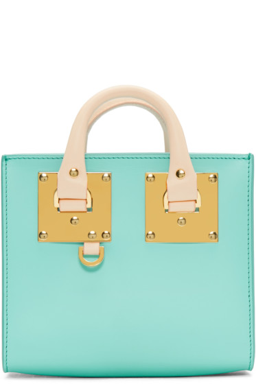 Sophie Hulme - SSENSE Exclusive Blue & Pink Albion Box Tote