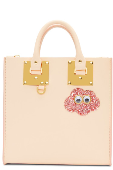 Sophie Hulme - SSENSE Exclusive Pink Glitter Cloud Square Albion Tote