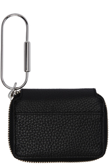 Kara - Black Leather Carabiner Wallet