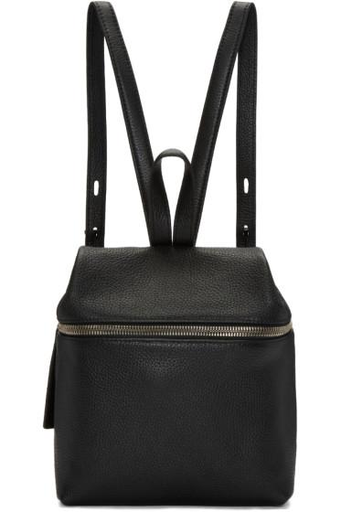 Kara - Black Leather Small Backpack