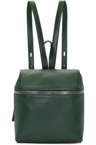 Kara - Green Leather Small Backpack