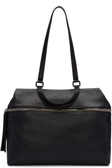 Kara - Black Leather Satchel
