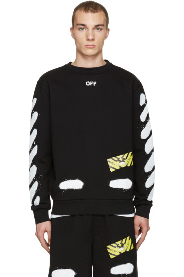 Off-White - Black Diagonal Spray Pullover