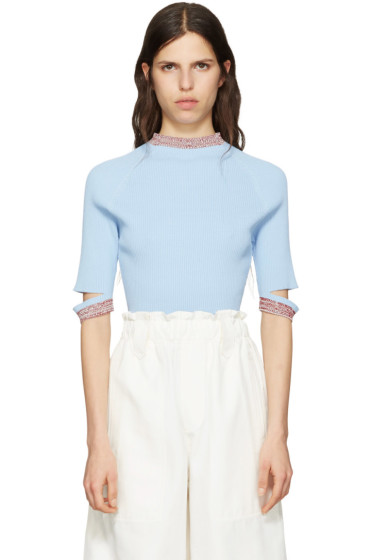 Nomia - Blue Slit Pullover