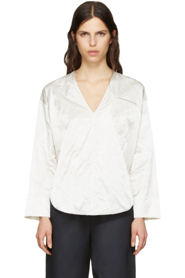 Nomia - Ivory Deep V-Neck Blouse