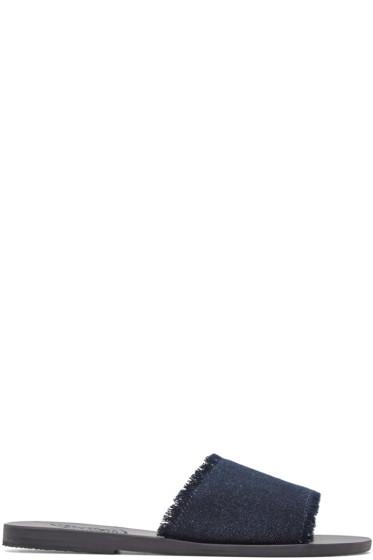 Ancient Greek Sandals - Indigo Denim Taygete Sandals