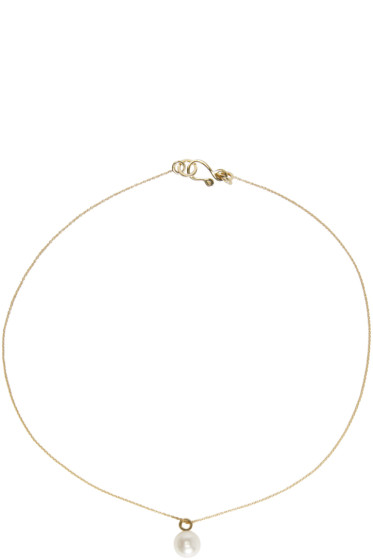 Sophie Bille Brahe - Gold Pearl Simple Necklace