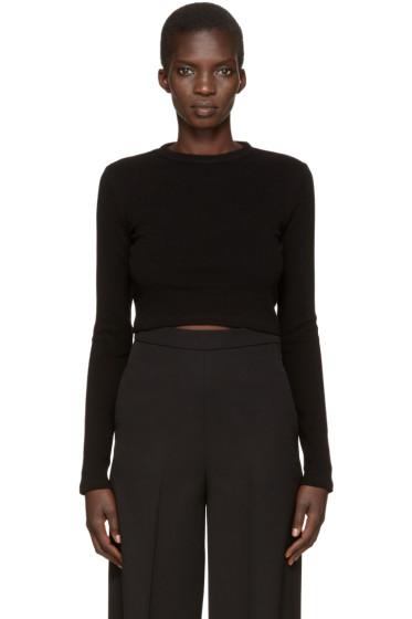 Rosetta Getty - Black Cropped T-Shirt
