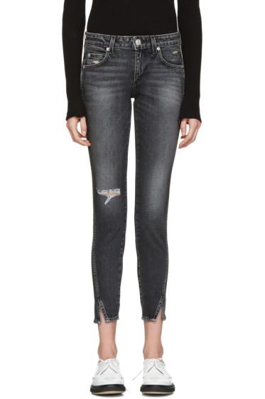 Amo - Black Distressed Twist Jeans