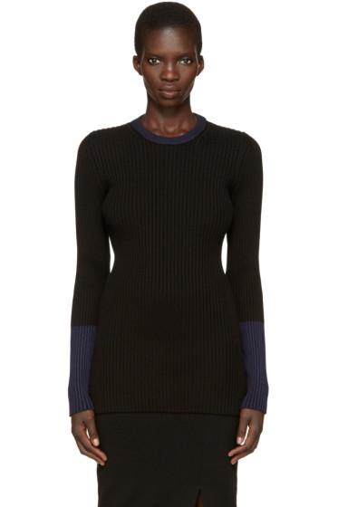 Victoria Beckham - Black Ribbed Pullover