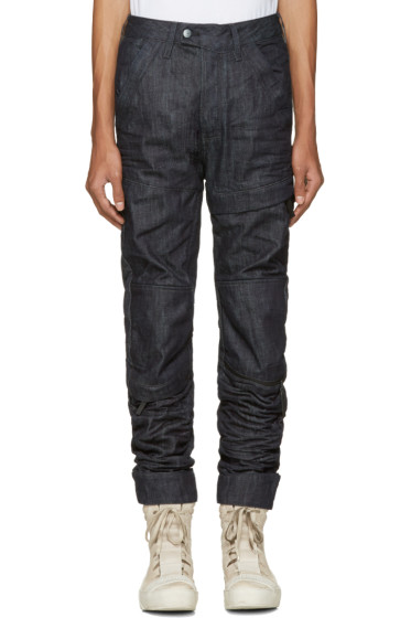 Raw Research - Indigo Rackam 3D Tapered Jeans