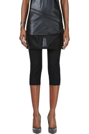 Maison Margiela - Black Mesh Skirt Layered Trousers