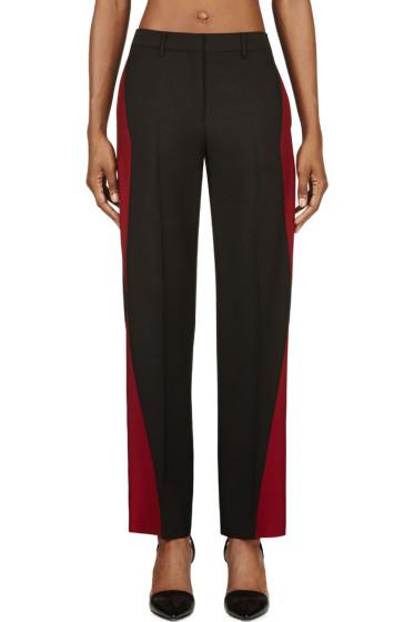 Maison Margiela - Black & Oxblood Colorblocked Mohair Trousers