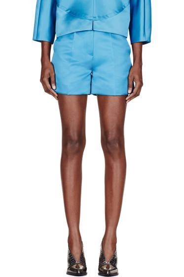 Roksanda - Teal Sheen Francine Shorts