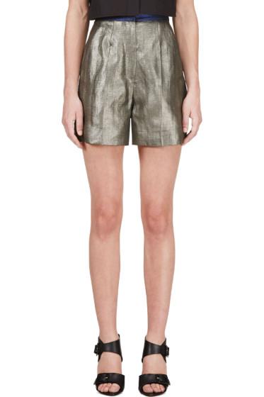 Roksanda - Grey Metallic Francine Shorts