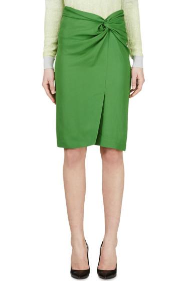 Cédric Charlier - Green Wrap Pencil Skirt